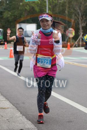 金門馬拉松-終點前500公尺15(MING JYUN WANG):2019金門馬拉松,全程馬拉松42.195KM,2323,陳恩佳